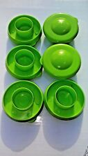 Water Bottle Lime Green Dew Cap Snap On 55mm Drinking Jug Tops Bag of 6
