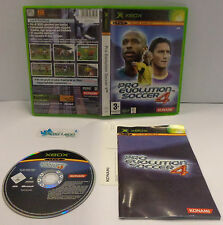Game Console Gioco Microsoft XBOX Play PAL Konami ITA - PRO EVOLUTION SOCCER 4 -