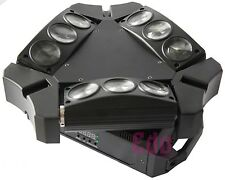 9x12W mini Led Spider Moving 3 Heads Light 9 eyes Party Light DJ disco wedding