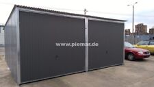 Blechgarage 5x6 in R7016 verzinkten 4-Kantprofil Halle Garage KFZ Lager NEU
