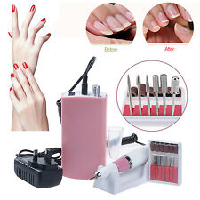30000RPM Nail Drill Portable Electric Nail File Manicure Machine Rechargeable UK