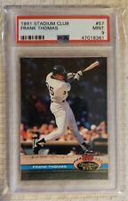 New listing 1991 Topps Stadium Club - Frank Thomas Chicago White Sox- #57PSA 9