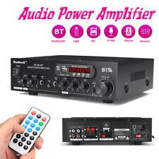 Sunbuck 2000W 110V/12V 2Ch bluetooth Power Amplifier Stereo AMP Home AUX FM SD