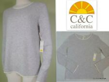 NWT C&C CALIFORNIA Size M 2-ply Cashmere Flare Sleeve Sweater SOFT!!!