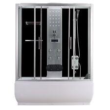Cabina vasca multifunzione box doccia con idromassaggio led 150x85 o 170x85|se