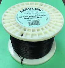 250 Pound Test Black Acculon Leader Wire - 1,000 Feet
