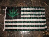 3x5 USA 5 Point Weed leaf Marijuana Double Sided Nylon flag 3'x5' banner grommet