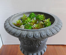 Artificial Grass Set of 12 Miniature Succulents Plants Lotus Stone