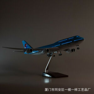 1/160 Korean Air 747-8 Passanger Plane Resin Aircraft LED Voice Light DisplayToy