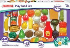 Casdon PLAY FOOD SET Little Cook Plastic Pretend Food Role Play Toy NEW
