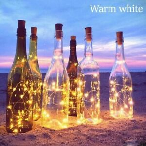 LED String Christmas Light Copper Garland Wire String Cork Shaped Party Wedding