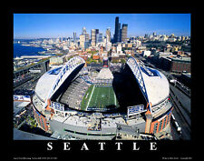 Seattle Seahawks Football CENTURYLINK FIELD GAMEDAY Aerial View Poster Print