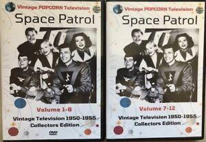 Space Patrol 68 TV Shows on 12 DVD's 2 Case Collection+Bonus Space Patrol OTR CD