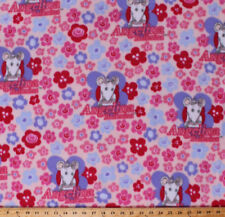 Angelina Ballerina Mouse Flowers Kids Girls Pink Fleece Fabric Print BTY A346.09