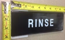 New listing Rinse adhesive sign door advertisement Information Symbol Wall Label