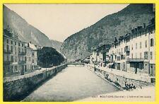 cpa 73 - MOÛTIERS (Savoie) L'Isère et les QUAIS