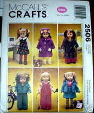 """McCALL's  2506 18"""" Doll Clothes Pattern EVEN A DOG!"""