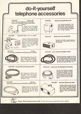VINTAGE AD SHEET #1814 - ORYX TELECOMMUNICATIONS TELEPHONE ACCESSORIES