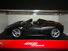 Hot Wheels Ferrari 458 Italia Spider 2011 Matt Black 1/18