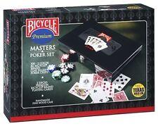 Bicycle Premium Masters Poker Set 300 8 Gram Clay Chips W/2 Decks Texas Hold EM
