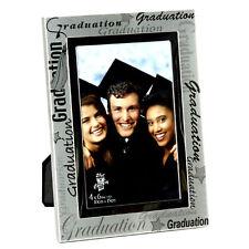 Graduación Plata 6'x 4' Foto Marco Con Negro inscripción - fa15646