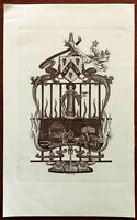 Asher DURE Iron Mongers T351 T463 Hall London, Iron Mongers Crest Print