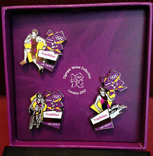 London 2012 OLIMPIADI Triathlon Venue UFFICIALE pin badge Set di 3