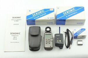 [N.MINT] Sekonic L-358 Flash Master Light Meter w/ RT-32 Module, RR-4 Receiver