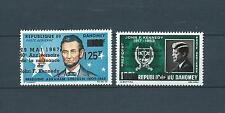 DAHOMEY - 1967 YT 59 à 60 - POSTE AERIENNE - TIMBRES NEUFS* charnière