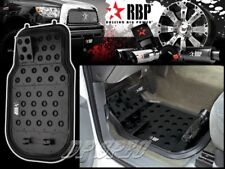 RBP BLACK ALUMINUM OFF ROAD DIMPLE DESIGN FLOOR MAT FOR FORD JEEP LINCOLN