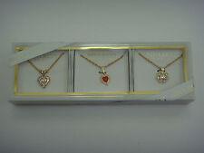 NINA RICCI PARIS Fashion Necklace Heart Pendant Charm Gift Box Set - MSRP $49.95