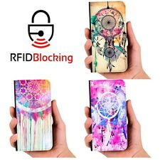 RFID Protected Dreamcatcher Wallet PU Leather Case Cover for Samsung Galaxy