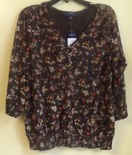 CHAPS Ladies V-Neck Top Size XL / NWT