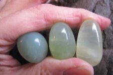 Jade Nephrite New Crystal polished Tumbled green good luck heart chakra Reiki x3