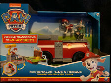 Paw Patrol, Marshall's Ride 'N' Rescue, Transforming 2-in-1 Playset & Fire Tru..