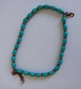 Vintage Turquoise Double Up Bracelet.  16cm folding to 8cm