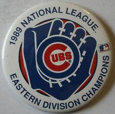 "1989 Chicago Cubs National League Eastern Division Champions Large 3 3/8"" Pin"
