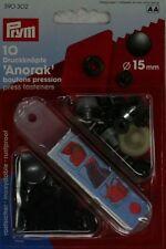 Prym 10 Bottoni a Pressione-senza cuciture 15 mm Rivestimento Nero Ossido Liscio