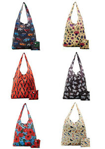 Eco Chic New Light Weight Foldaway Shopper Bag / Shopping Bag - 100% Recycled