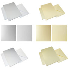 Card Blanks and Envelopes A5 C5 White Ivory Textured Card for Invitation making
