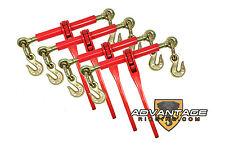 "4 Ratchet Load Lever Binders 5/16"" - 3/8"" Boomer Chain Equipment Tiedown Hauling"