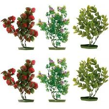 6 x Trixie Aquarium Plants Trees Fish Tank Decorations with Plastic Base - 17 cm