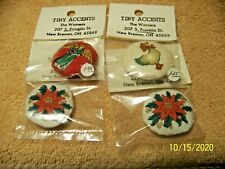 Nice New Miniature Set of 4 Christmas Pillows for Doll House