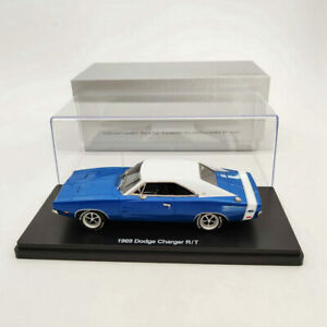 1:43 DODGE CHARGER R/T SE 1969 - blue & white Resin Limited Models Car Auto Gift