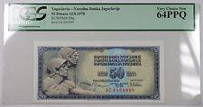 12.8.1978 Yugoslavia 50 Dinara Bank Note SCWPM# 89a PCGS 64 PPQ Very Choice New