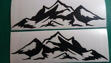 "Jeep hood Mountain decals CJ Wrangler JK Side 2 pcs set fender 4""x12""  v2"