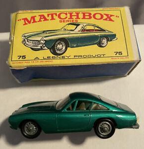 Lesney Matchbox #75 Ferrari Berlinetta MINT with Crisp Original Box RARE VINTAGE