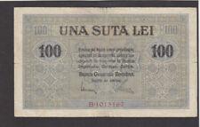 100 LEI FINE BANKNOTE FROM GERMAN OCCUPIED ROMANIA 1917 PICK-M7 RARE