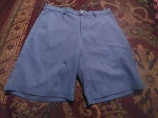 PETER MILLAR Crown Sport Men's 100% Polyester Size 34 SOLID BLUE Golf Shorts