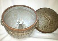 "Vintage 8"" Stoneware Yunnan Funnel Steam Pot 3 Quart Ceramic Steamer W/ Lid ~USA"
